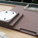deck madeira plástica