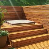 deck de madeira na parede Ilha Comprida