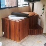 empresa que faz deck de madeira para banheiro Ilha Comprida