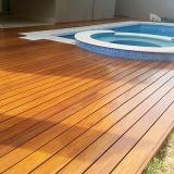 empresa que faz deck de madeira piscina Poá