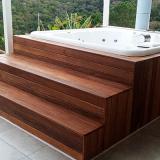 instalação de deck de madeira de jardim