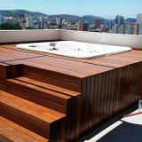 instalação de deck de madeira para quintal