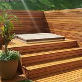 instalação de deck de madeira quintal