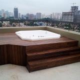 instalação deck madeira