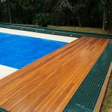 instalação de deck de madeira piscina valores Embu das Artes