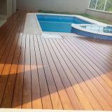 instalação de deck de madeira piscina Diadema