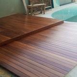 instalação de decks de madeira piscina Jandira