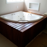 onde faz deck de madeira para banheiro Santos