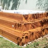 onde faz deck de madeira para jardim Cananéia