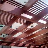 orçamento de pergolado de madeira coberto Sorocaba