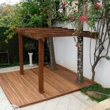 orçamento de pergolado de madeira para garagem Jandira