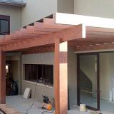 pergolado de madeira para garagem Campinas